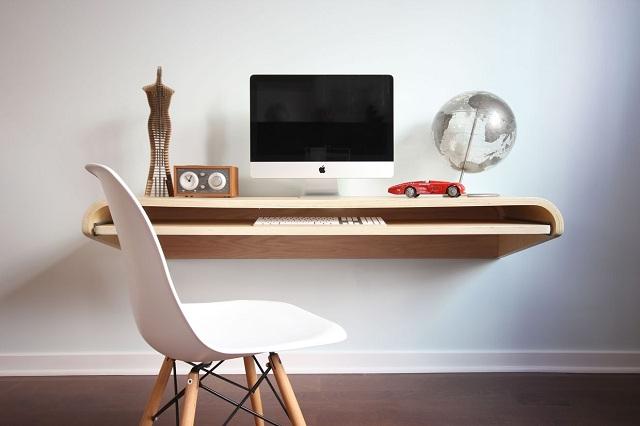 Minimal Float Wall Desk by Orange22 Design Lab