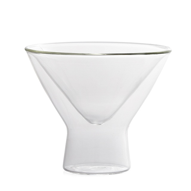 Torre & Tagus Pica Double Wall Martini Glasses