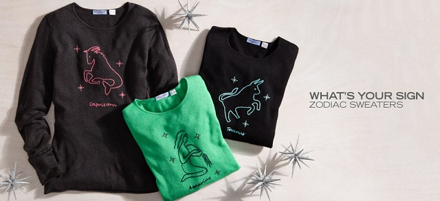 What's Your Sign: Zodiac Sweaters at MYHABIT