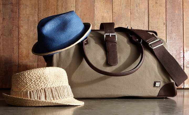 Block Men's Leather & Canvas Weekender