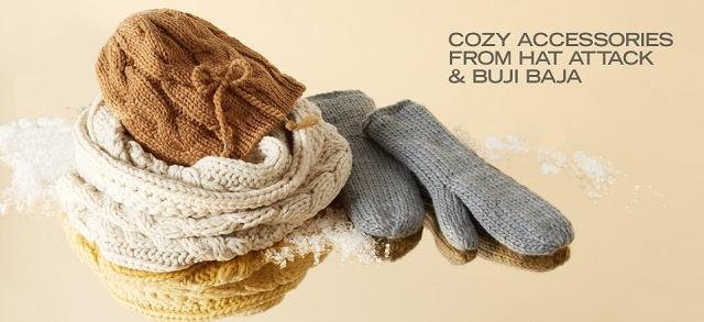 Cozy Accessories from Hat Attack & Buji Baja at MYHABIT