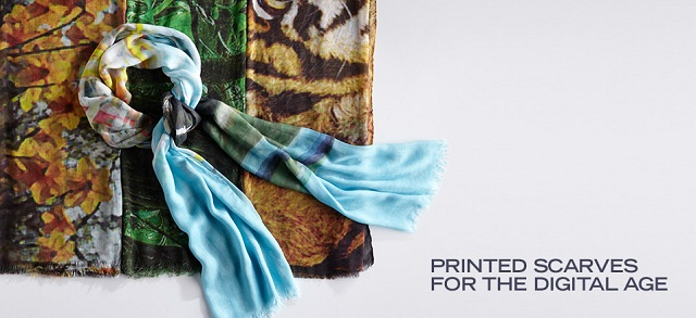 Printed Scarves for the Digital Age at MYHABIT