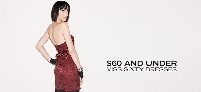 $60 and Under Miss Sixty Dresses at MYHABIT