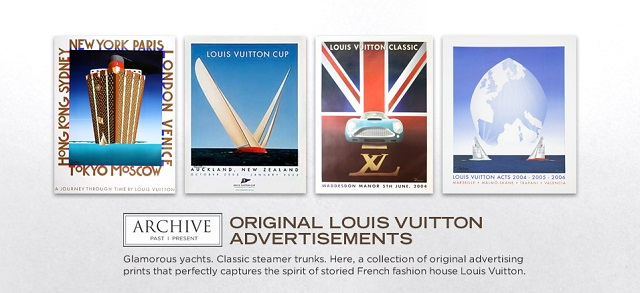 ARCHIVE: Original Louis Vuitton Advertisements at MYHABIT
