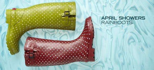 April Showers Rainboots at MYHABIT