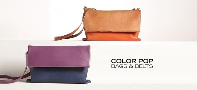 Color Pop Bags & Belts at MYHABIT
