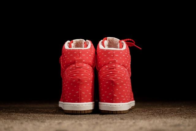 Nike Women's Dunk Sky Hi Print Hyper Red_6