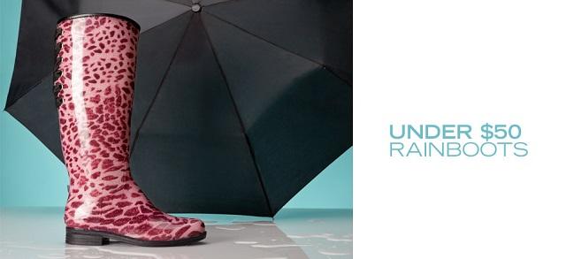 Under $50: Rainboots at MYHABIT