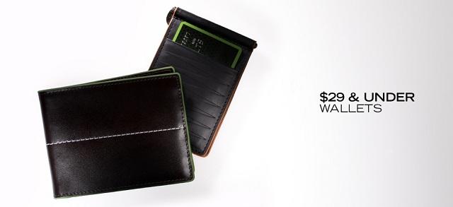 $29 & Under Wallets at MYHABIT