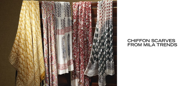 Chiffon Scarves from MILA Trends at MYHABIT
