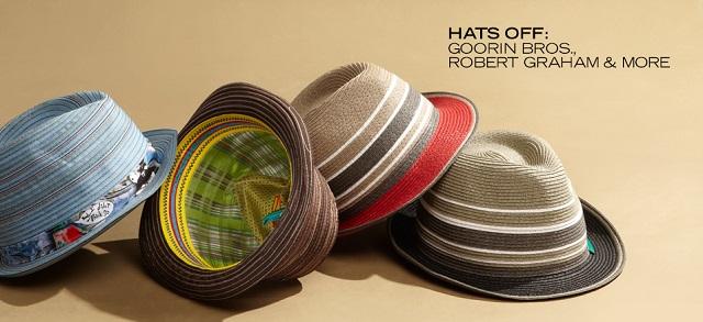 Hats Off Goorin Bros., Robert Graham & More at MYHABIT
