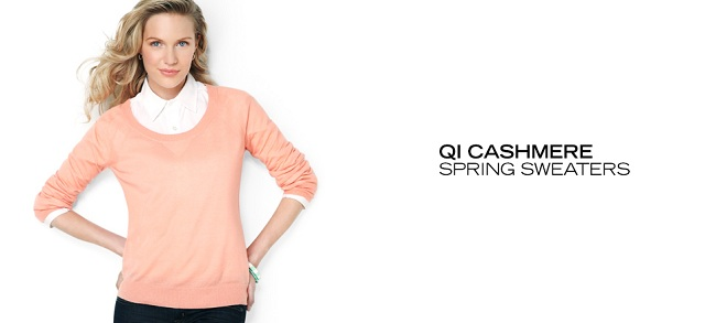 Qi Cashmere Spring Sweaters at MYHABIT
