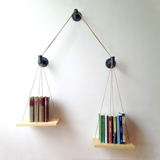 Cush Design Studio Balance Bookshelf - Natural