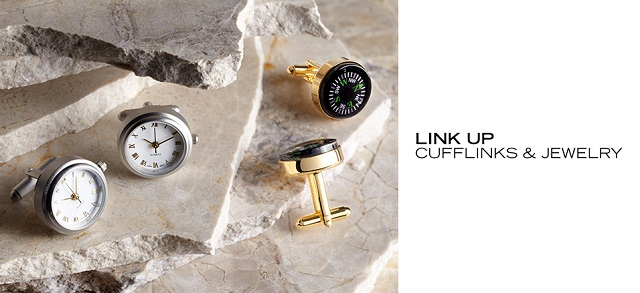 Link Up Cufflinks, Bracelets & More at MYHABIT