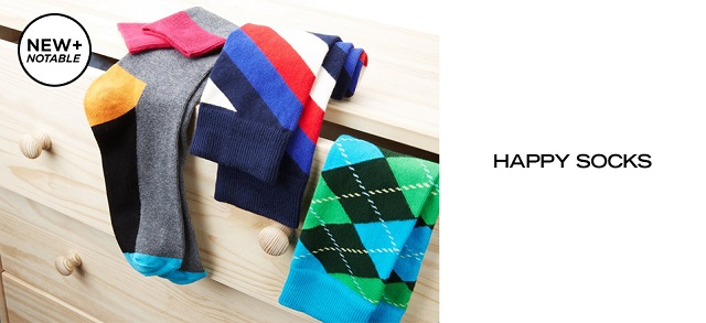 New + Notable Happy Socks at MYHABIT