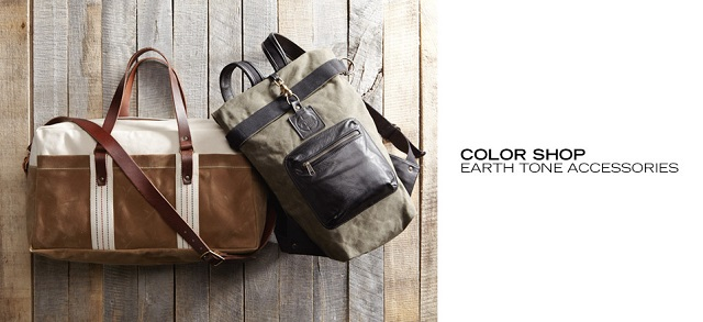 Color Shop Earth Tone Accessories at MYHABIT
