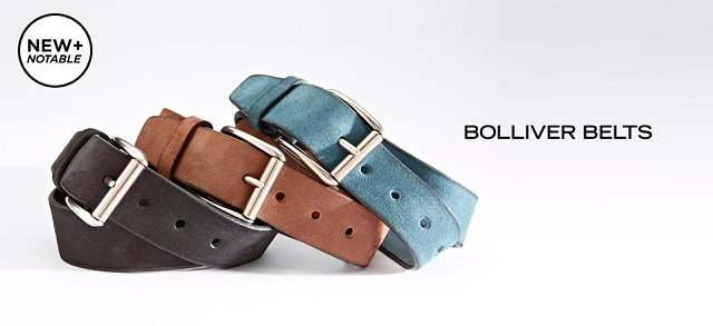 New + Notable Bolliver Belts at MYHABIT