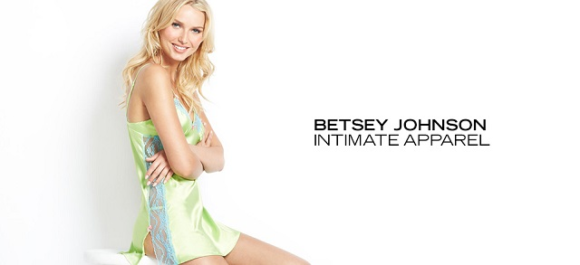 Betsey Johnson Intimate Apparel at MYHABIT