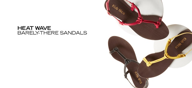 Heat Wave Barely-There Sandals at MYHABIT