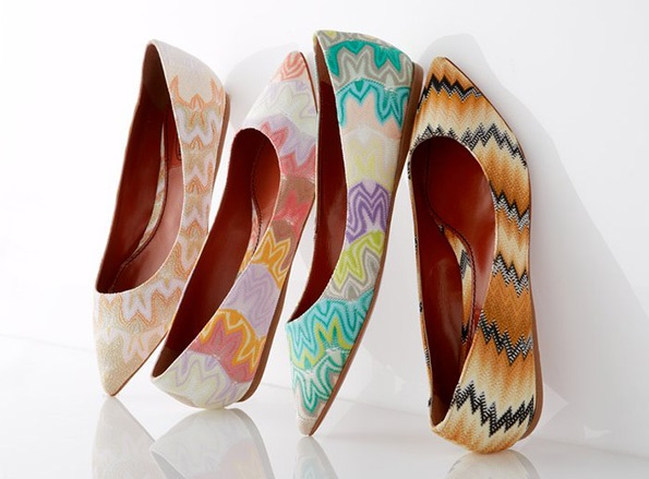 Missoni Classic Stitch Pointy Flats