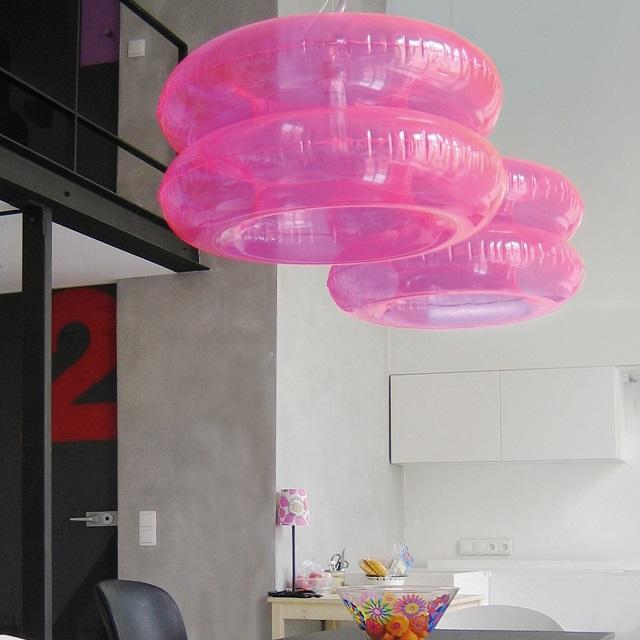 Puff Buff Big Pink Hanging Lamp