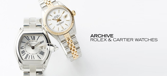 ARCHIVE Rolex & Cartier Watches at MYHABIT