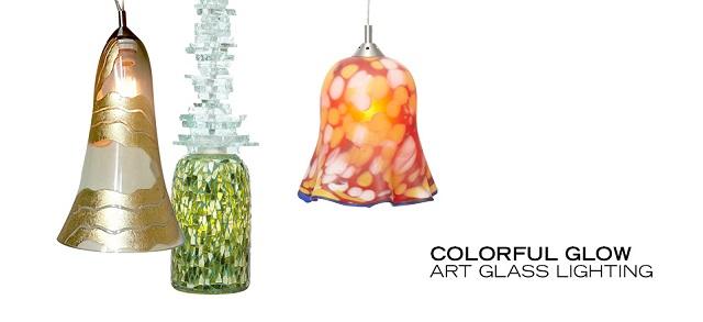 Colorful Glow Art Glass Lighting at MYHABIT