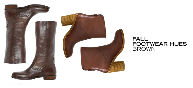 Fall Footwear Hues Brown at MYHABIT
