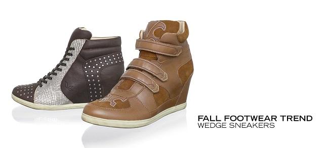 Fall Footwear Trend Wedge Sneakers at MYHABIT