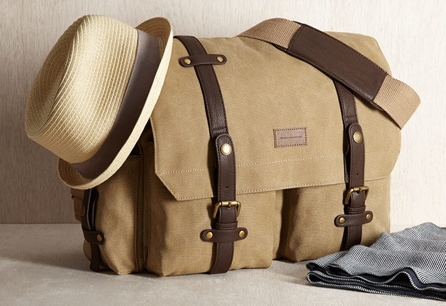 French Connection Men's Forrest Cotton Messenger