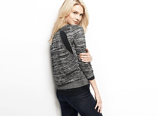 Shae Crew Neck Sweater with Back Openings