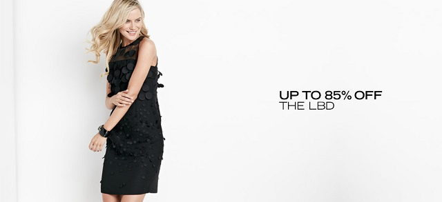 Up to 85 Off The LBD at MYHABIT