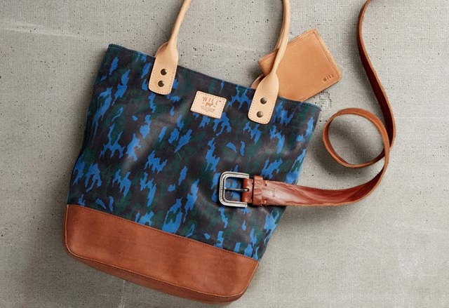 Will Leather Goods Men's Camo Tote
