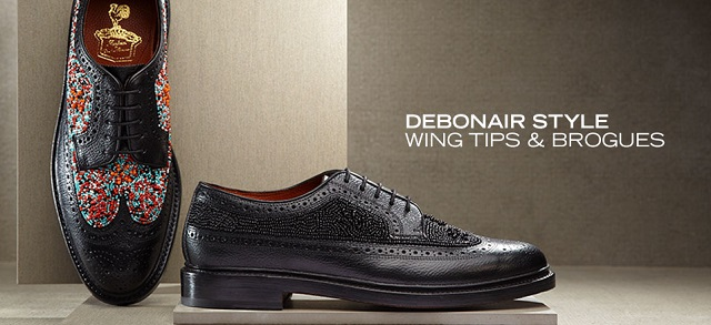 Debonair Style Wing Tips & Brogues at MYHABIT