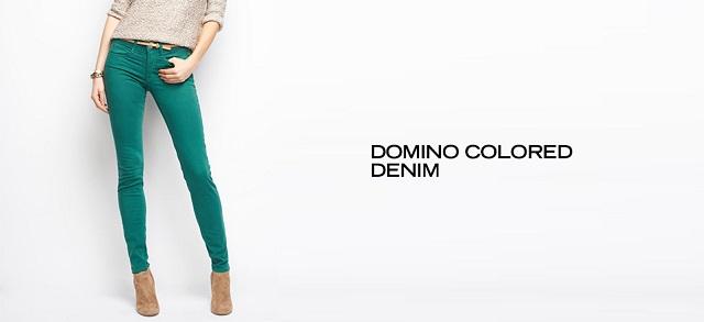 Domino Colored Denim at MYHABIT