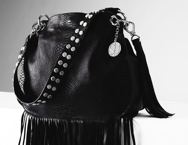 Stella & Jamie Mona Embossed Leather Fringe Bag