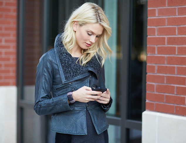 Bagatelle Women's Convertible Leather Jacket