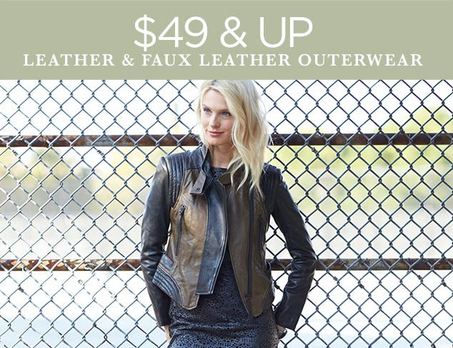 $49 & Up Leather & Faux Leather Outerwear at MYHABIT
