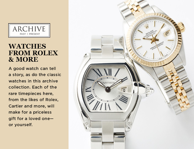 ARCHIVE Watches from Rolex & More at MYHABIT