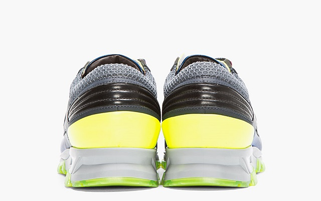 Lanvin Black Leather Neon-trimmed Trainers_6