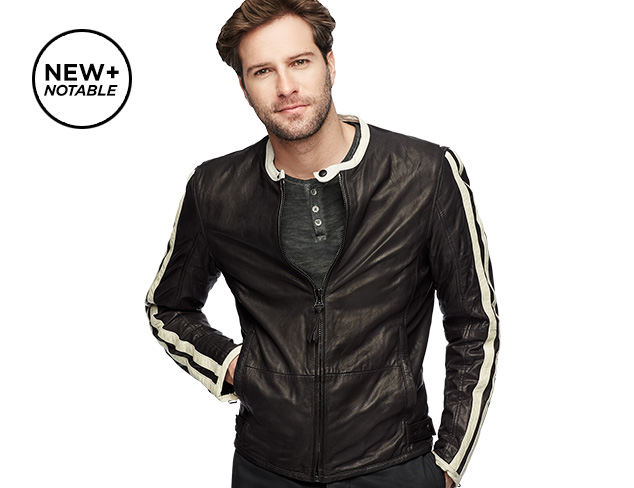 Denim & Leather by Andrew Marc at MYHABIT