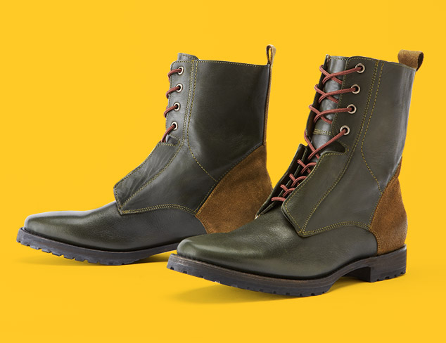 Rugged & Refined Lace-Up Boots at MYHABIT