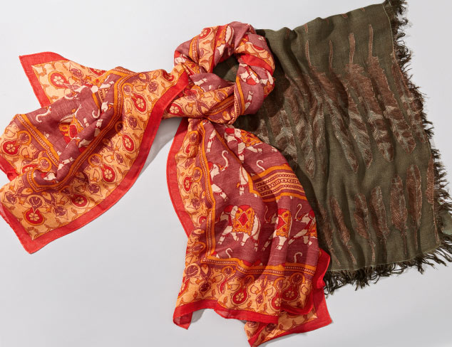 Bold Prints Scarves feat. Micky London at MYHABIT