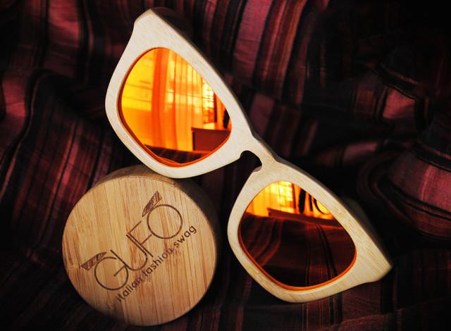GUFO fashion design Original Wooden Sunglasses