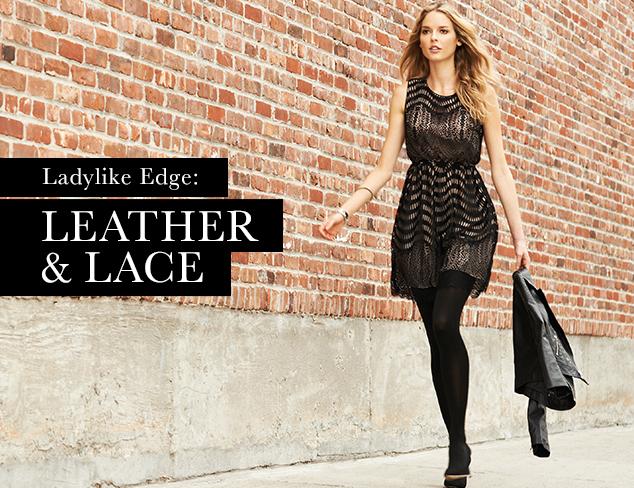 Ladylike Edge Leather & Lace at MYHABIT