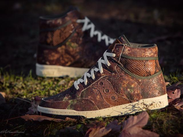 Packer Shoes x Saucony Woodland Camo Hangtime Hi_4