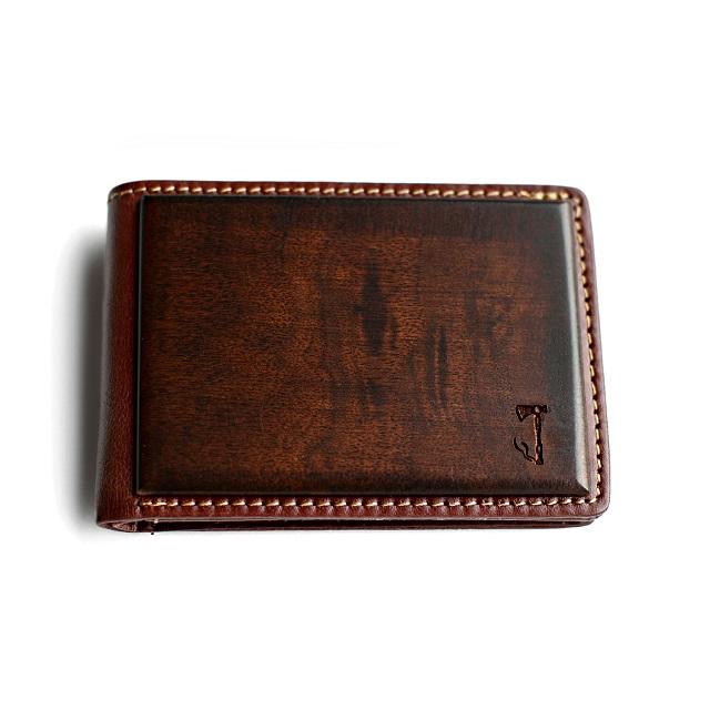 Slim Timber Walnut Wood Bifold Wallet_1