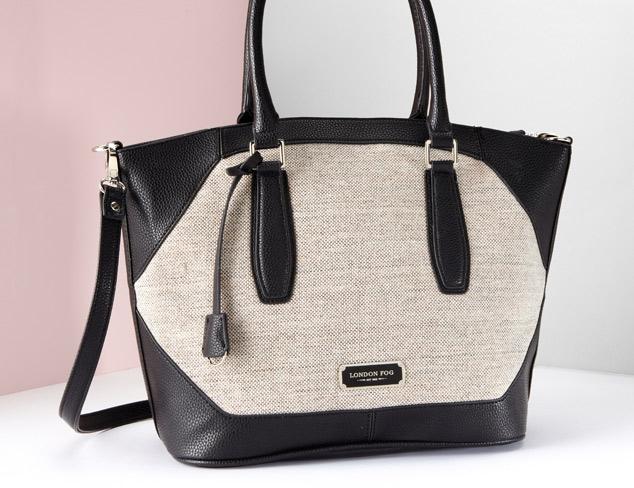 London Fog Avery Linen Shoulder Bag