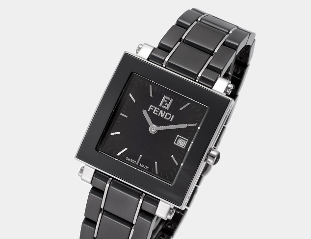 Fendi Black Ceramic & Stainless Steel Watch