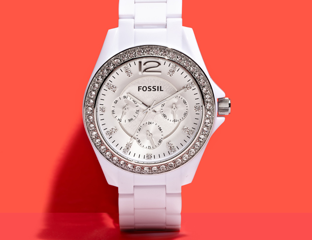 Fossil ES3252 Riley White Multifunction Resin Watch